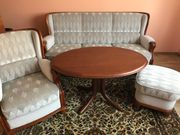Federkernpolstergarnitur Sofa Couch Sessel und
