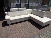 Leder Couch Eckgarnitur Wohnlandschaft Marke