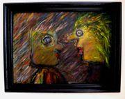 4 tolle abstrakt Gemälde Gesichter