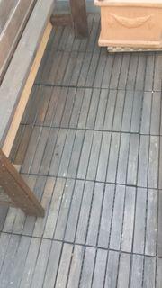 Klickfliese Holz für Terasse Balkon