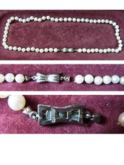 Perlenkette mit Silberverschluss
