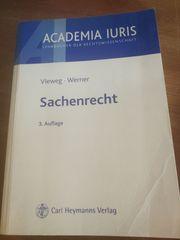 Jura Sachenrecht Vieweg Werner