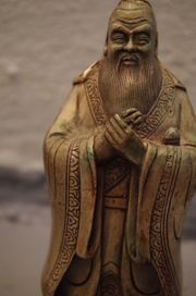 Statue Mönch Adel Silber Kupfer