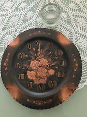 Wanduhr Kupfer 31 cm Durchmesser