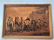 1 Bild aus Kupfer - Bierkutscher