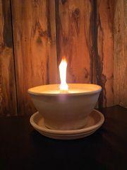 Gartenfackel mit Dauerdocht Kerzenwachsresycling Wiederbefüllbare