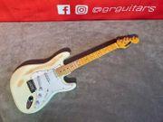 E-Gitarre Weiß Vintage Design White