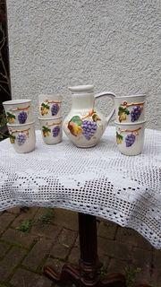 7 teiliges italienisches Keramik - Set