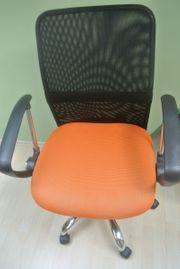 Bürostuhl - höhenverstellbar - orange schwarz 5