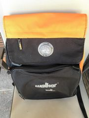 WALKER Schulrucksack - schwarz orange - sehr