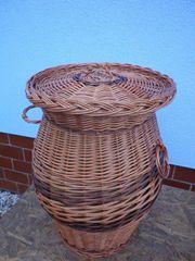 Wäschekorb Wäschesammler Weide mit Deckel