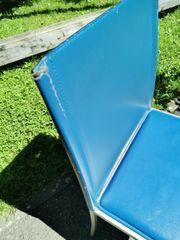 6 Stühle blau