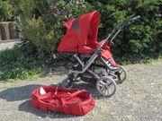 Teutonia Kinderwagen rot