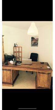 Büro Tisch Massiv antik Holz