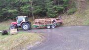 Holzhänger Rungenwagen Tieflader