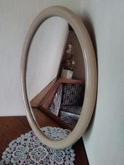 Spiegel oval TIGER mit beige