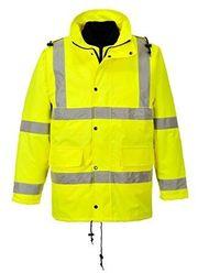 Gelbe warnschutzjacke in