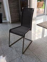 Edelstahl Freischwinger Stühle 6 Stück