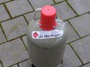 Leere Propangasflasche