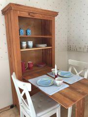 Schrank Schreibtisch aus Massivholz