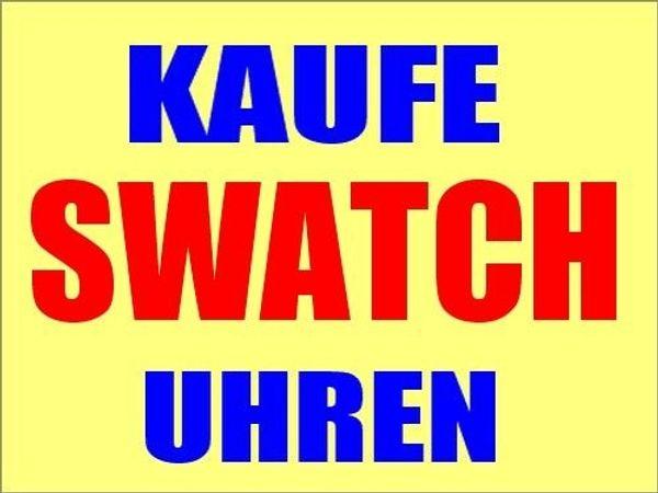 KAUFE Swatch Uhren Sammlungen nur