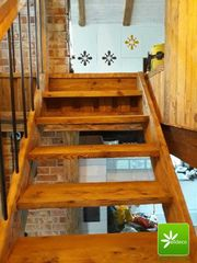 Treppe aus Altholz - Alldeco