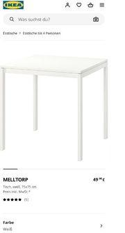 Tisch weiß quadratisch 75x75 IKEA