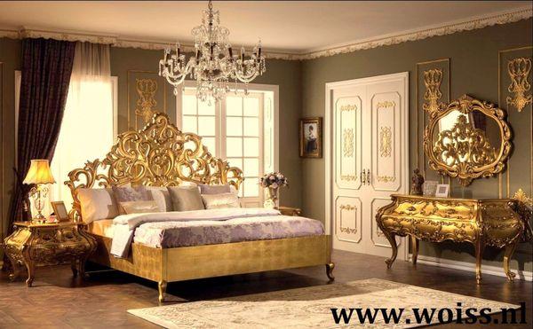 Hochglanz Gold Schlafzimmer Klassische Barock-Stil Woiss Möbel In