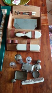 Vintage Kulturkoffer aus Leder mit
