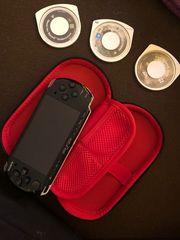 PSP Portable inkl Spiele Hülle -