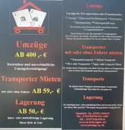 UMZUG TRANSPORT AUTOVERMIETUNG VON PROFI