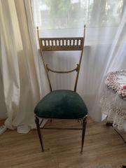 Vintage Messing Stuhl