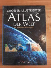Grosser illustrierter Atlas der Welt