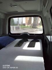 ein bett im auto
