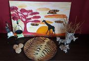 Deko Afrika Bild Vase Teller