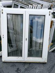 Mehrere zweiflügige Fenster 111 cm