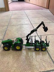 Traktor mit Anhänger Metal gelänke