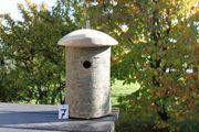 Nisthilfe Nistkasten Vogelhaus naturnah Baumstammnistkasten