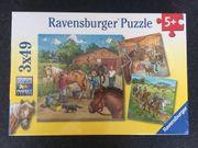 Ravensburger Puzzle Mein Reiterhof 3x49