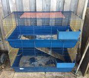 Hasen-Meerschweinchenkäfig zweistöckig zu verkaufen