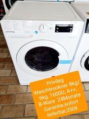 Privileg Waschtrockner 8kg 6kg 1600U
