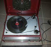 Schallplattenspieler Telefunken Musikus 108v Silber