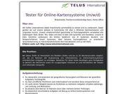 Tester für Online-Kartensysteme m w