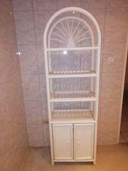 Badezimmer Badschrank Standregal mit Tür