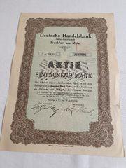 Historische Aktien Deutsche Handelsbank AG