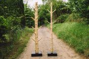 Holz Garderobenständer Kleiderständer aus massivem