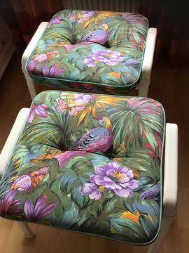 Gartenmöbel - 2 Sitzkissen 2 Auflagen für