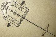 Handarbeit-Kunsthandwerk Schmiedeeiserner Notenständer