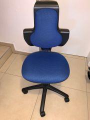 Bürostuhl blau