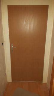Tür Zimmertür mit weißer Türzarge